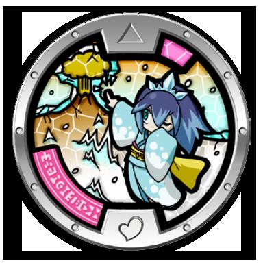 Blizzaria medal yo kai watch wiki yokai watch fans for Porte medaillon yokai watch